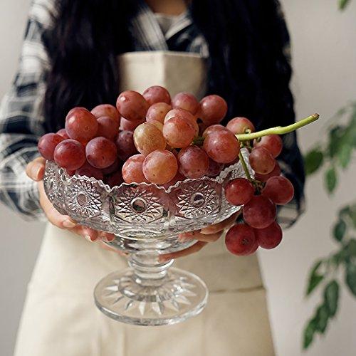 Exquisite Carved Glass Fruit Dish Living Room Decoration Transparent Fruit Plate