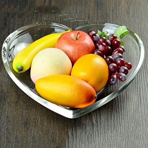 Glass transparent glass fruit dish Fashion creative dried fruit dish-E 30x65cm12x3inch