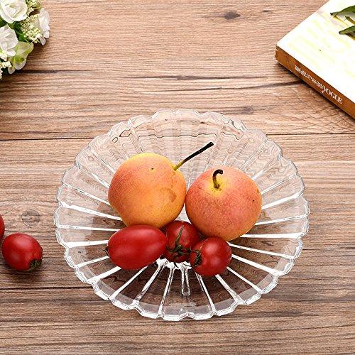 LXCC Crystal Glass Fruit Dish Creative Modeling Fruit Bowl Seasoning PlateD18Cm