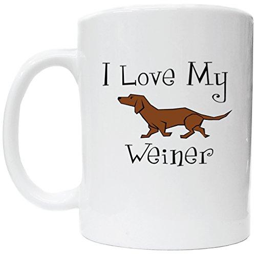 I Love My Weiner Ceramic Coffee Cup