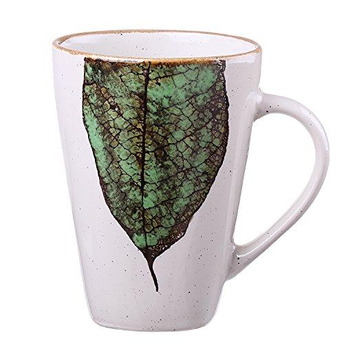 Prakash Personalized Design MugCreative Art Leaves Ceramic Coffee Cup 14 oz
