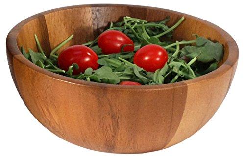 Woodard Charles Acacia Wood Individual Salad Bowl 6-12-Inch