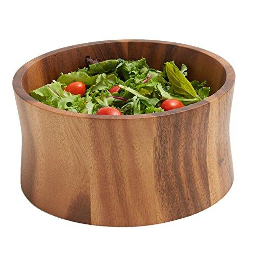 Woodard Charles Acacia Wood Tulip Salad Bowl 14-Inch