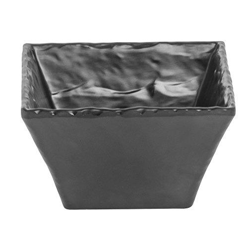 Cal-MIL Faux Slate Collection Square Black Melamine Bowl - 5 L x 5 W x 3 H