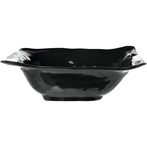 Elite Global Solutions M103BRF-B Tuscany II Collection 1 34 qt Square Black Melamine Bowl - 10 L x 10 W x 3 H