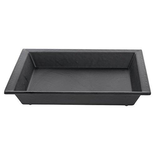 Slate Look Serving Bowl Square Black Melamine - 14L x 14W x 2H