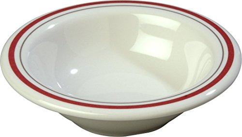 Carlisle 43043903 Durus Rimmed Melamine Fruit Bowl 475 Morocco on Bone Pack of 48