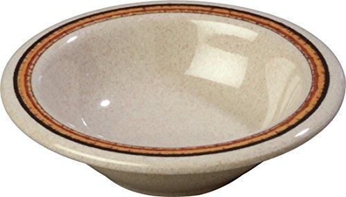 Carlisle 43043908 Durus Rimmed Melamine Fruit Bowl 475 Sierra Sand on Sand Pack of 48
