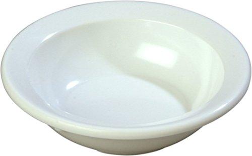 Carlisle 4353202 Dallas Ware Melamine Fruit Bowl 31-oz Capacity 408 Diameter x 112 Depth White Case of 48