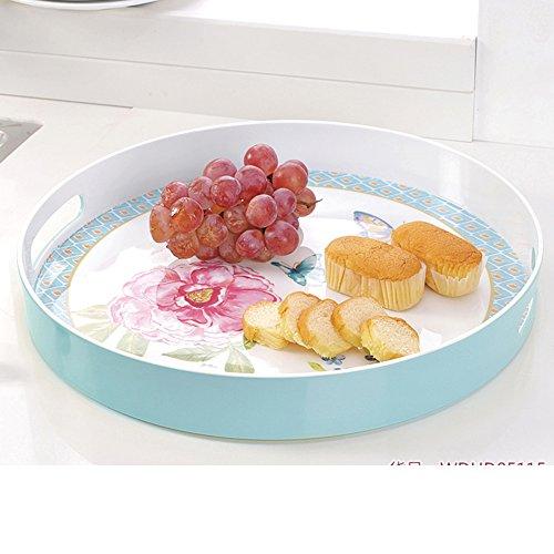 round tray15Continental binaural inch melamine fruit bowl storage-A