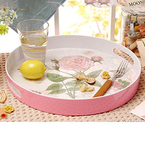 round tray15Continental binaural inch melamine fruit bowl storage-B
