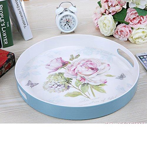 round tray15Continental binaural inch melamine fruit bowl storage-G
