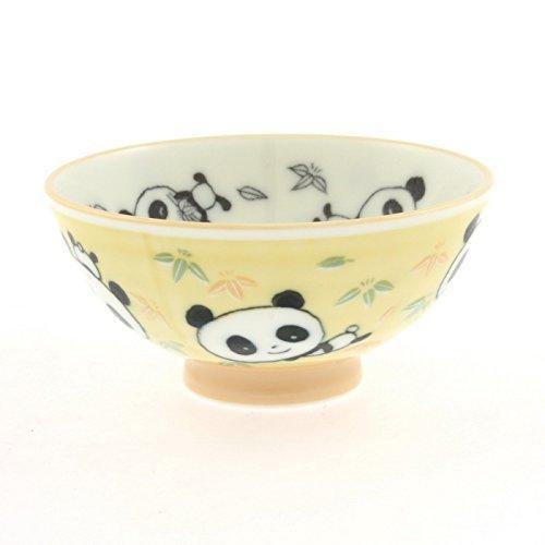 2 Pc Japanese Yellow Pandagreen Bmb Rice Bowl Set Includes 2 Bowls
