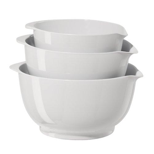 Oggi 3-Piece Mixing Bowl Set White