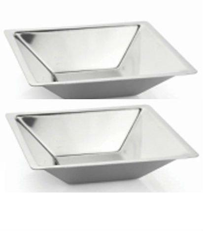 Qualways Stainless Steel Soup Bowls Set of 2 dessert bowls salad bowls toddler bowls