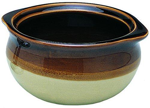 Onion Soup Crocks Chili Bowls Two Tone Set of 4 - 10 Ounce 4 10 ounce