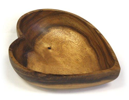 Mountain Woods Artisan Acacia Wood Heart Shaped Bowl - 1225L x 10W x 3H