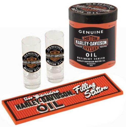 Harley Davidson Oil Can Shot Glass Gift Set