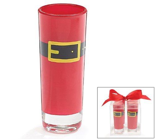 Santa Belt Shot Glass Gift Set of 4