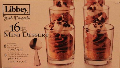 Libbey Just Dessert Glass 16 Piece Mini Dessert Set