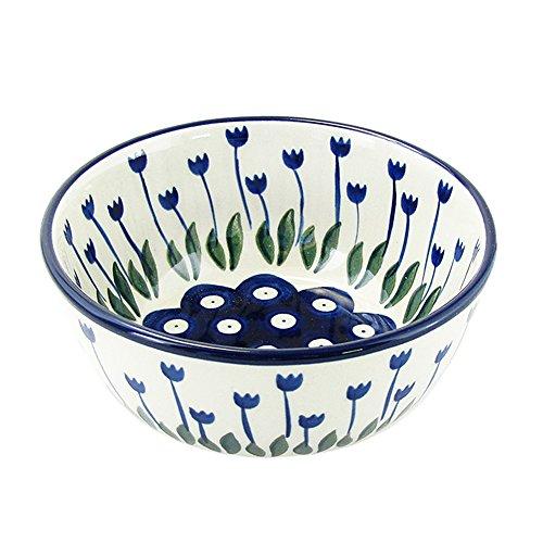 Polish Pottery Handmade 45 10 oz Ice Cream Dessert Bowl Traditional Stoneware Pattern 017-377Z