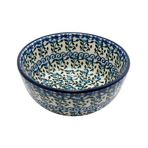 Polish Pottery Handmade 45 10 oz Ice Cream Dessert Bowl Traditional Stoneware Pattern 945
