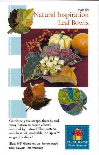 Natural Inspiration Leaf Bowls Fabric Bowl Pattern