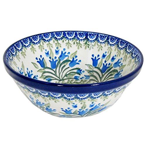Polish Pottery Handmade 55 Old Kitchen Nesting Bowl 059-Blue Tulips