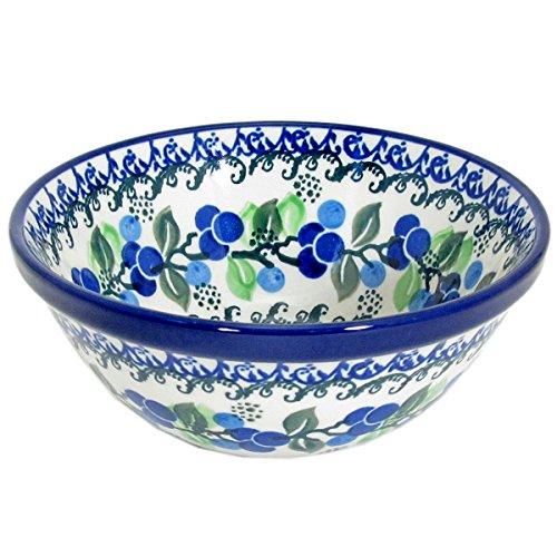 Polish Pottery Handmade 55 Old Kitchen Nesting Bowl 059-Blueberries