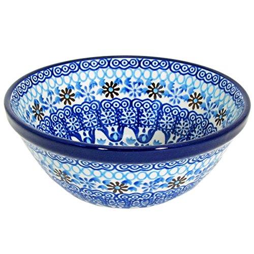 Polish Pottery Handmade 55 Old Kitchen Nesting Bowl 059-Ice Jewels