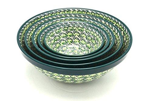 Polish Pottery Nesting Bowl Set - Irish Meadow