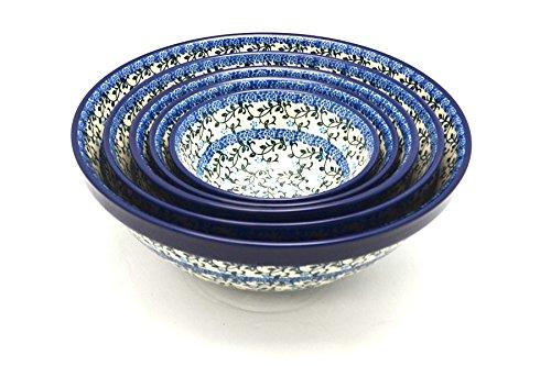 Polish Pottery Nesting Bowl Set - Terrace Vines