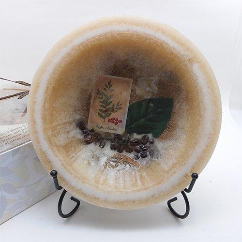 Habersham - Cold Brewed Coffee Cream Wax Pottery Bowl 7 Inch