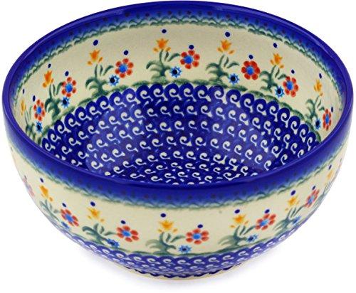 Polish Pottery Bowl Spring Flowers large