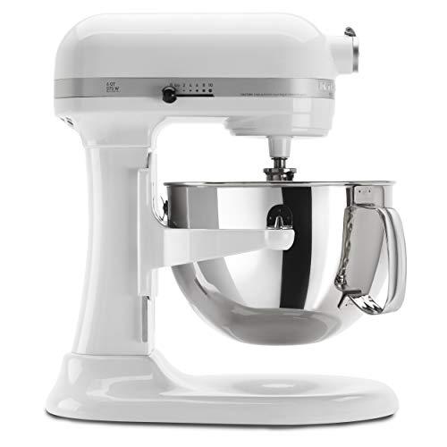 KitchenAid KP26M1XWH 6 Qt Professional 600 Series Bowl-Lift Stand Mixer - White