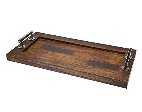 Godinger Rectangular Wooden Trays 20 x 12 Brown