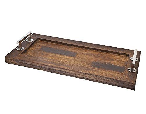 Godinger Rectangular Wooden Trays 24 x 12 Brown