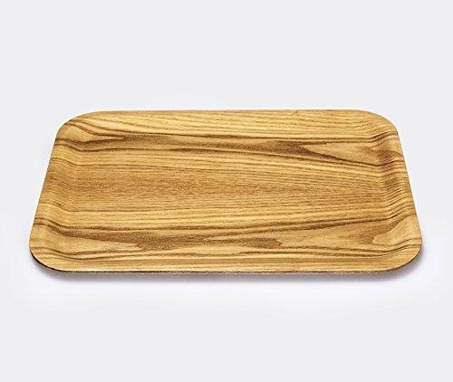 Kinto Non-slip Rectangular Wooden Tray - 27x20cm