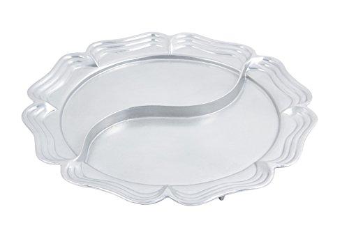 Bon Chef 2061DPG AluminumPewter Glo Queen Anne Divided Platter 18 Diameter