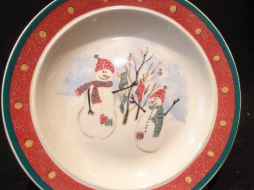 ROYAL SEASONS SNOWMAN Stoneware Plate Christmas Dessert Plate Snowman Plate 65 Christmas Tableware