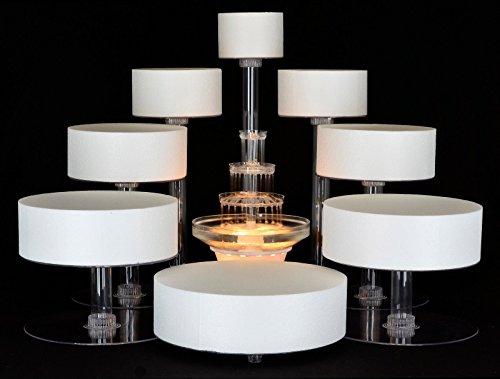 8 Tier Cascade Wedding Cake Stand STYLE R800