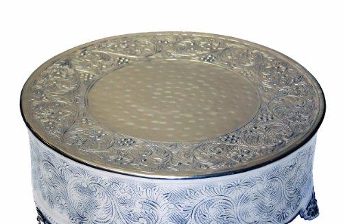 GiftBay Creations 743-12R Wedding Round Cake Stand 12-Inch Silver