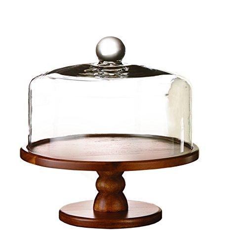 American Atelier 212767 Madera Pedestal Cake Plate Brown