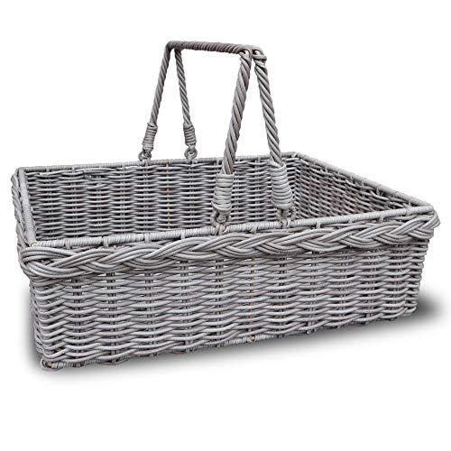 Habau 3171 Tray Serving Tray Basket Tray Bed Tray Breakfast Tray Table Tray Dish Tray Crockery Tray Cutlery Tray Metal and Plastic Wicker Grey
