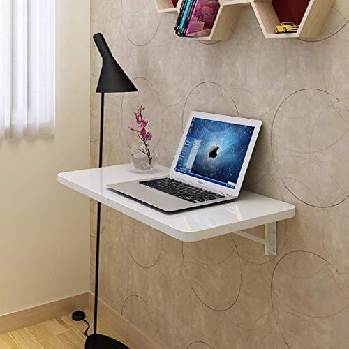 QQXX Computer Desk Folding Computer DeskClapboard Shelf Wall Mounted PinkWhite Laptop Desk Size Optional Breakfast Tray Table Color  White Size  6040cm 6040cm
