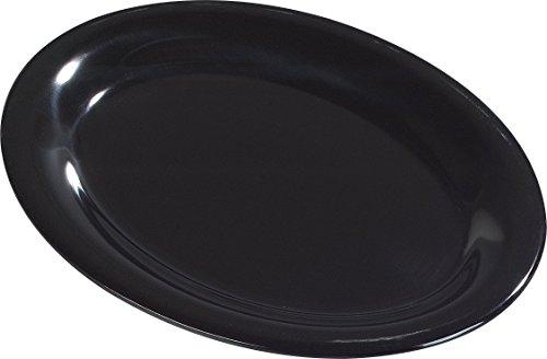 Carlisle 3308603 Sierrus Melamine Oval Serving  Dinner Platters 95 x 725 Black Pack of 24