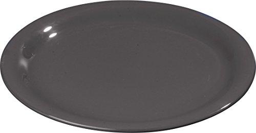 Carlisle 4300803 Durus Narrow Rim Melamine Pie Plate 65 Black Pack of 48