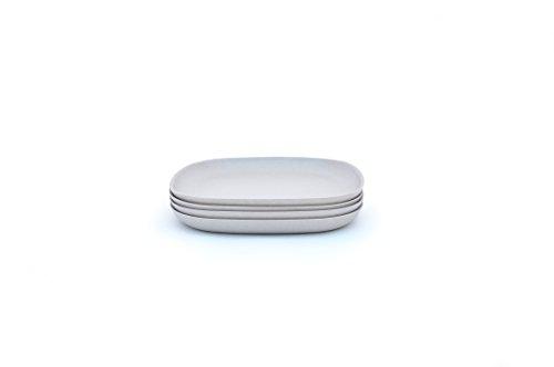 Biobu by Ekobo Gusto Side Plate Set 4 Pack Stone