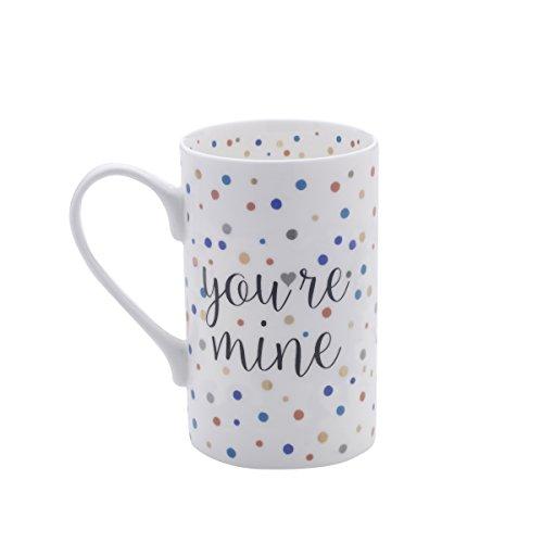 Mikasa Bone China Coffee Mug 16-Ounce Confetti Youre Mine
