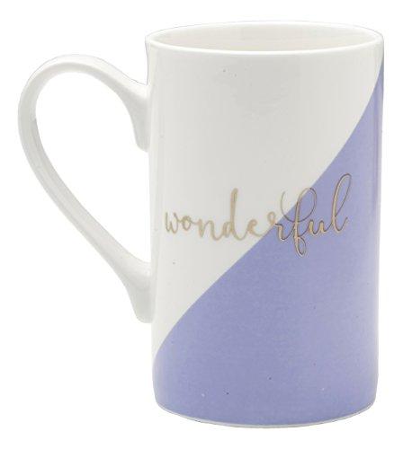 Mikasa Bone China Coffee Mug 16-Ounce Wonderful WhiteGoldPurple